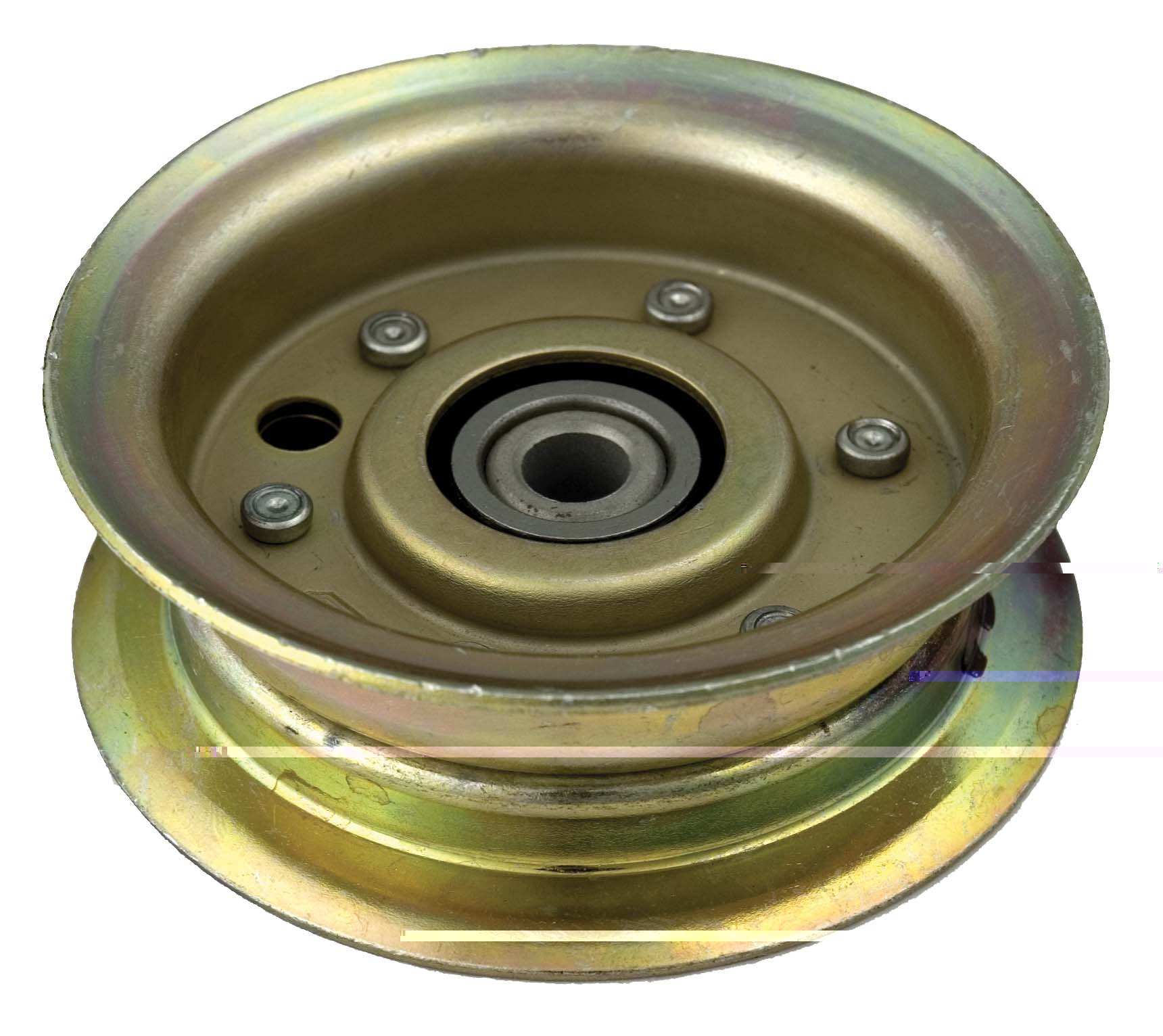 Idler Pulley : Flat idler pulley for john deere am