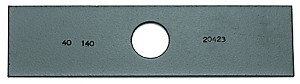 "Edger Blade For Stick Edger Edgers 8"" x 1"" x .187 Thickness"